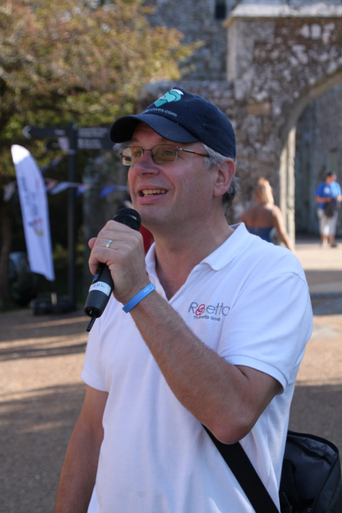 Mike hosting IOW day 2019 at Carisbrooke Castle