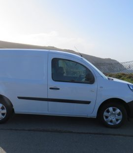 Electric van at the Needles